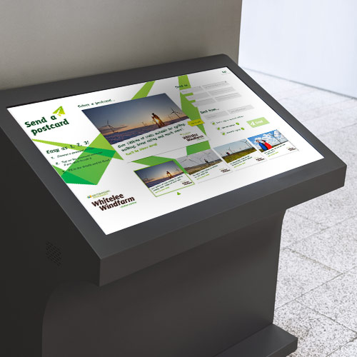 Touchscreen Customised Postcard