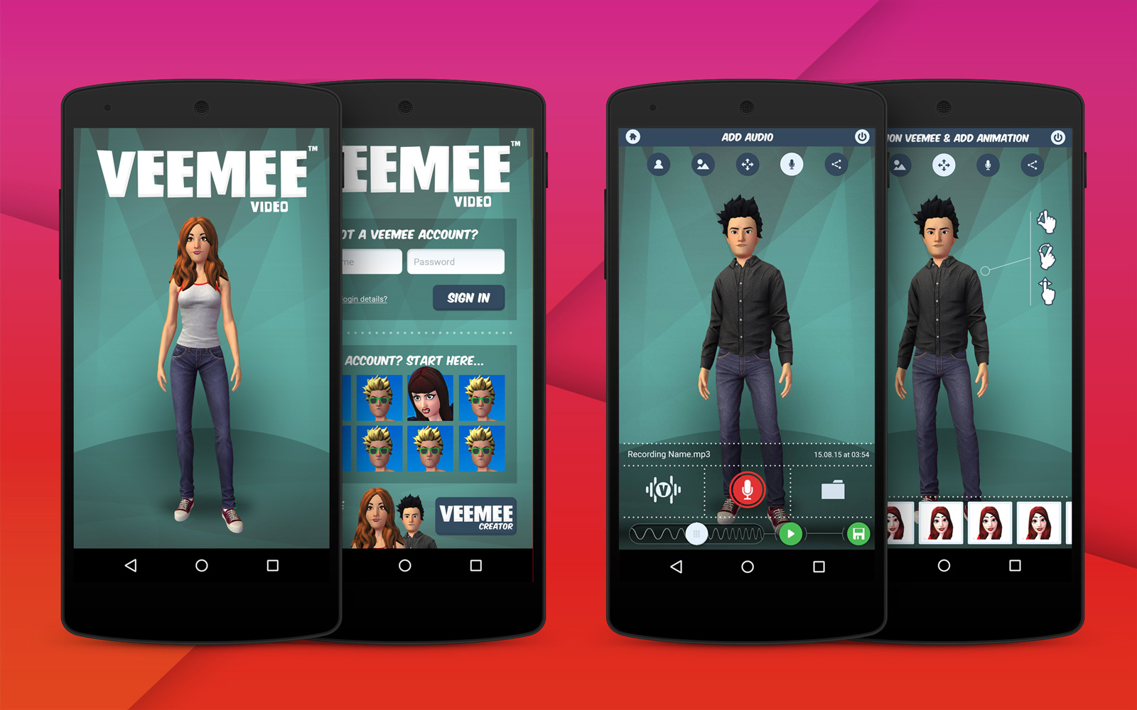 Character Design Apps For Android : Android app for veemee interactive av software